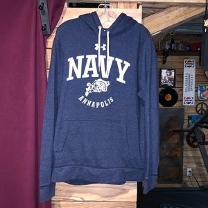 Under Armour Navy Annapolis Hoodie Size Large